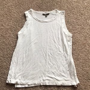 Small Evereve White Muscle Tank Top